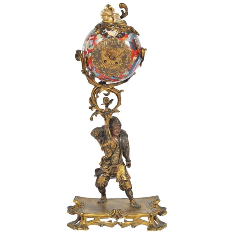 https://2covet.com/product/large-and-rare-meiji-period-miyao-bronze-warrior-holding-a-cloisonne-clock-above