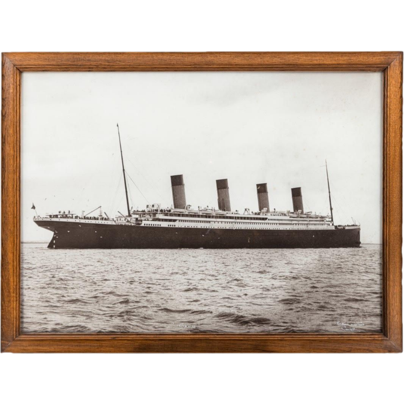 An original and large photograph of R.M.S. Titanic by Beken of Cowes
