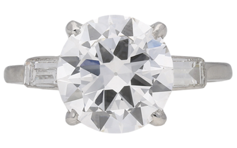 Cartier diamond solitaire ring, French, circa 1950.