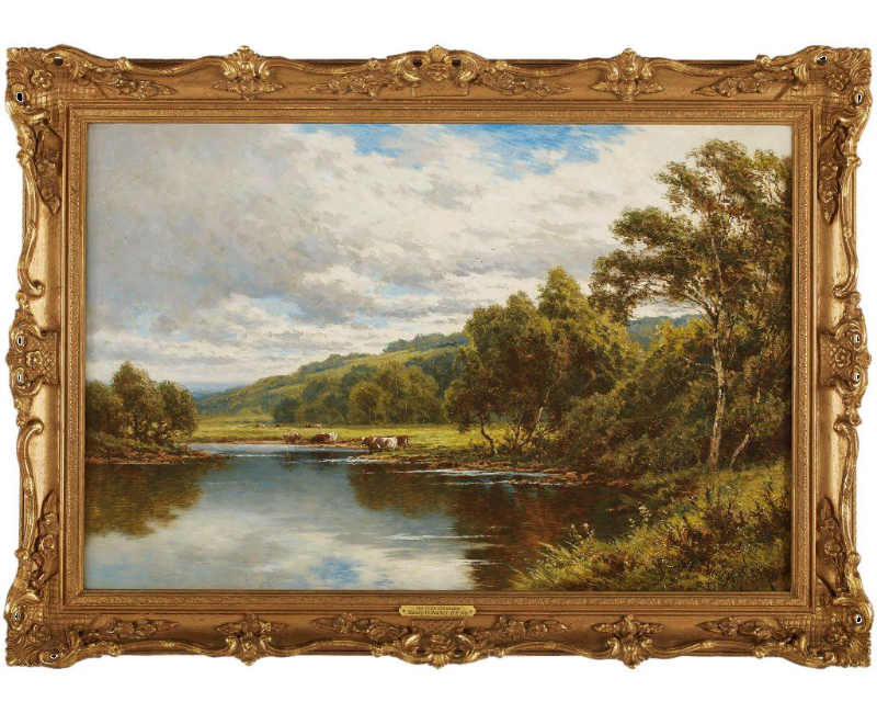 On The Severn by Henry Hillingford Parker (1858-1930)