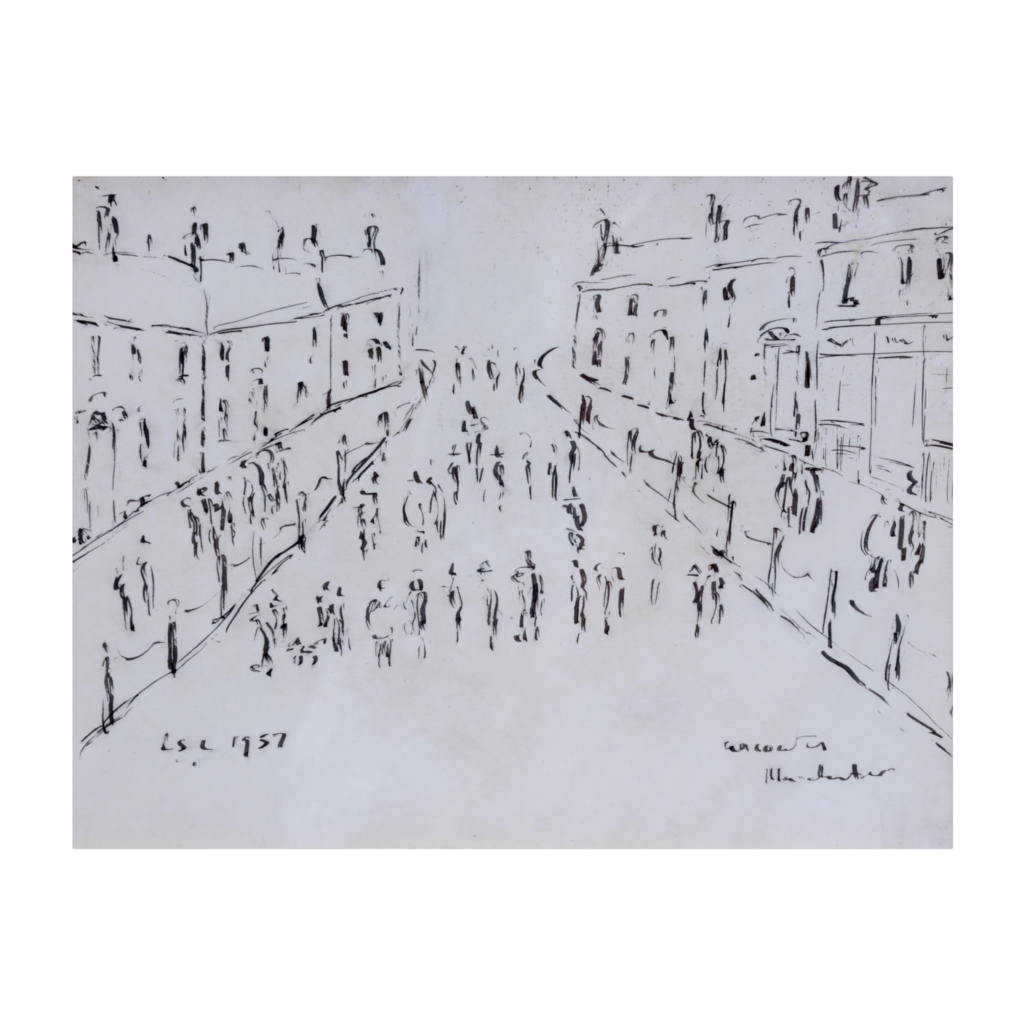 """Laurence Stephen Lowry R.A. - """"Ancoats Manchester"""""""